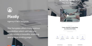 Pixeliy - Business HTML Landing Page Template