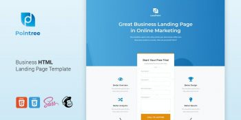 Pointree - Business HTML Landing Page Template