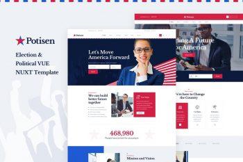 Potisen - Vue Nuxt Election & Politics Template