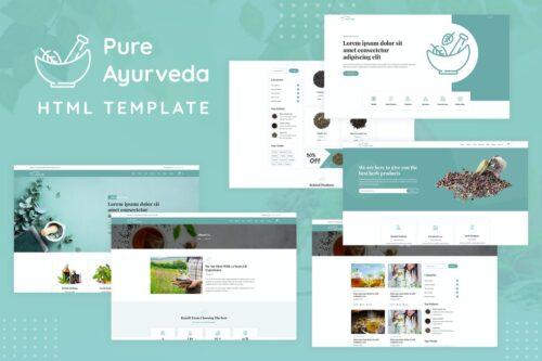 Pure Ayurveda - Responsive HTML Template