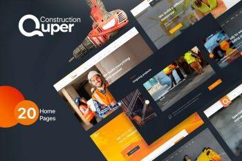Quper - HTML5 CSS3 Construction Template