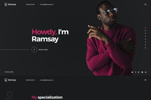 Ramsay - Personal Onepage HTML Template