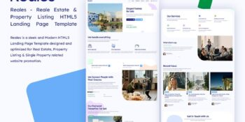 Real - Real Estate Listing HTML Home Page