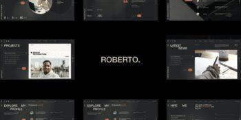 Robert. - OnePage Horizontal Personal CV Resume H