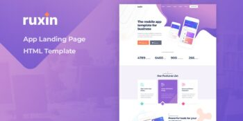 Ruxin - App Landing Page HTML Template