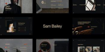 Sambailey - Personal CV Resume HTML Template