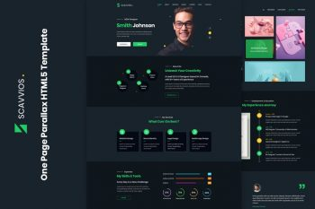 Scavvios One Page Parallax HTML5 Template