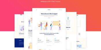 Seobiz Multipurpose SEO & SMM HTML5 Template