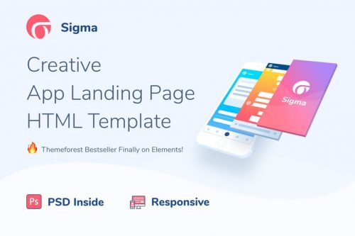 Sigma - Application Landing Page HTML Template