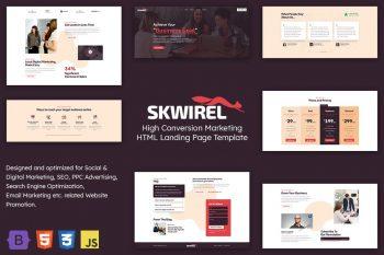 Skwirel - High Conversion Marketing Landing Page