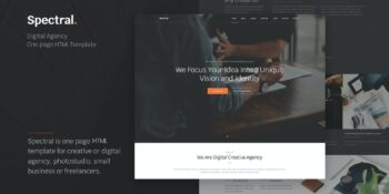 Spectral - Agency One Page HTML5 Template
