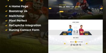 SportsZone Sports Club Template, New & Game