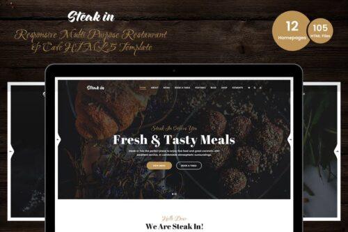 Steak In - Restaurant & Cafe HTML5 Template
