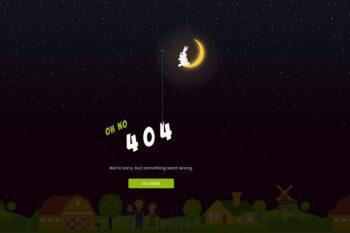 Sunset - Creative Animated 404 Page