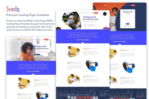 Svasty Healthcare Service Landing Page Template