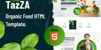 TazZa - HTML5 Organic Food Template