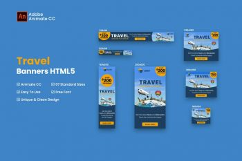 Travel Banner Ad HTML5 - Animate CC