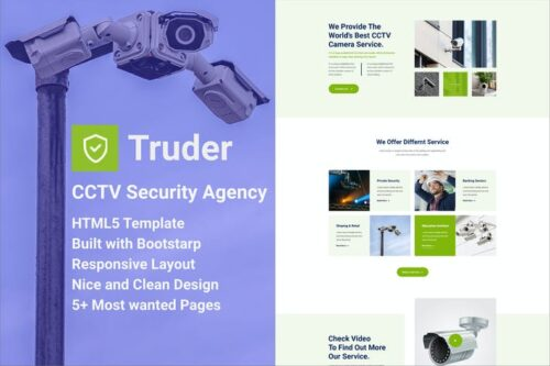 Truder - CCTV Security Agency HTML Template