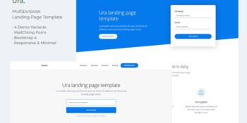 Ura Multipurpose Landing Page Template