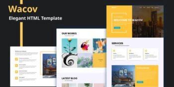 Wacov - Elegant HTML Template