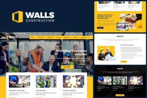Walls - Construction HTML Template