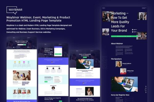 Waybinar - Webinar and HTML home page of the event