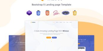 Wizous - Bootstrap 5 Landing Page Template