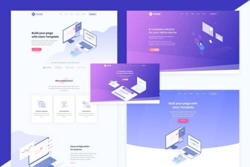 XIOM - SaaS, Software and Startup HTML Template
