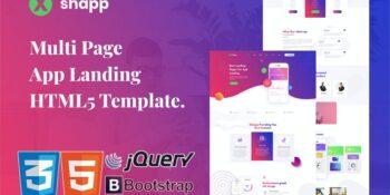 Xshapp - HTML5 Multi-page App Landing Template