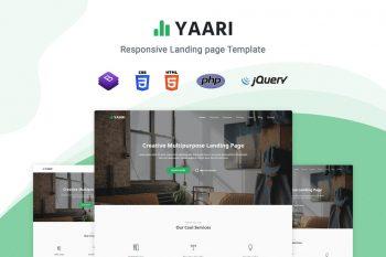 Yaari - Responsive Landing Page Template