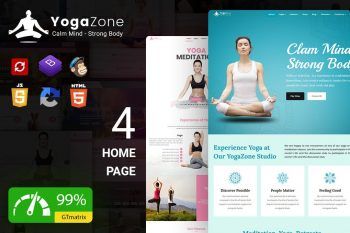 Yogazone: Yoga, Fitness and Meditation Template