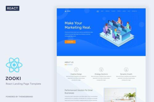Zooki - ReactJs Landing Page Template