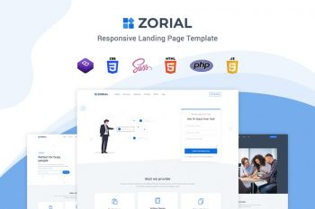 Zorial - Landing page template