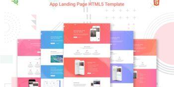 eApp - 5-in-1 App Landing Page HTML5 Template