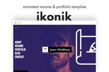 ikonik - Resume CV Animated Template