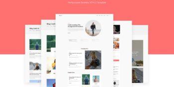 Bizblog Multipurpose Blog HTML5 Template