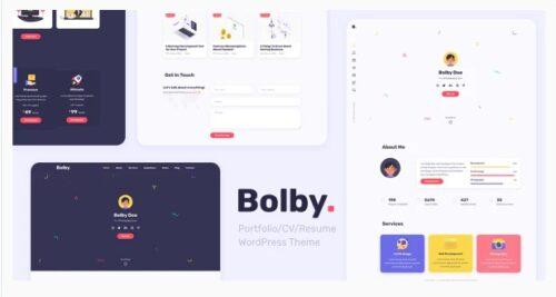 Bolby - Portfolio CV Resume WordPress Theme