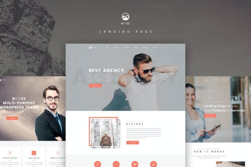 Booss Creative Multipurpose Landing Page