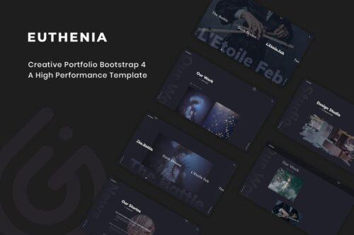 Euthenia - Creative Portfolio Bootstrap 4 Template