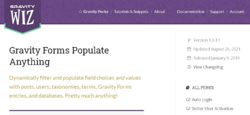 Gravity Forms Populate Anything