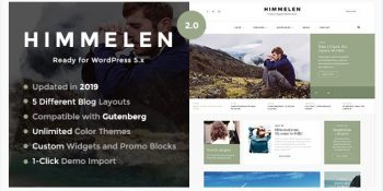 Himmelen - Personal Minimal WordPress Blog Theme