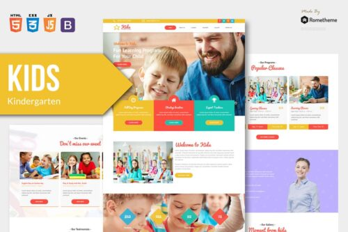 KIDS - Kindergarten and Child HTML Template RS