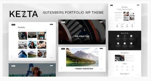 Kezta - Gutenberg Portfolio for WordPress