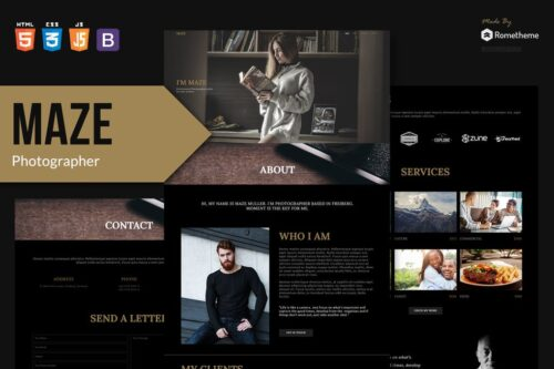 MAZE - Photography Portfolio HTML Template RS