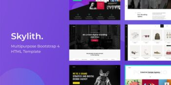 Skylith - Multipurpose Bootstrap 4 HTML Template