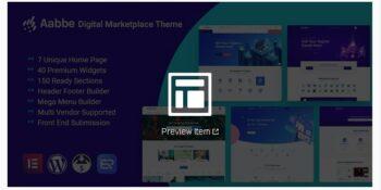Aabbe – Digital Marketplace WordPress Theme