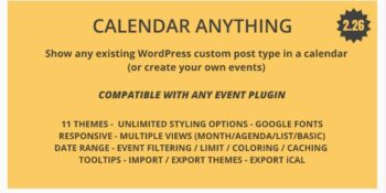 Calendar Anything Show any existing WordPress custom post type in a calendar