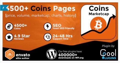 Coins MarketCap - WordPress Cryptocurrency Plugin