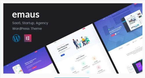 Emaus SaaS App and Startup Elementor WordPress Theme