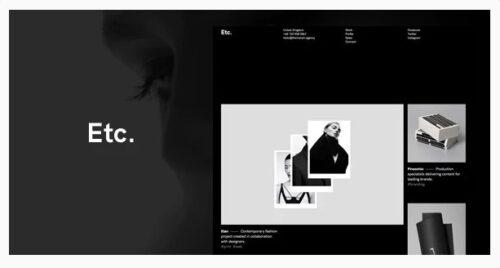 Etc. - Portfolio Creative WordPress Theme